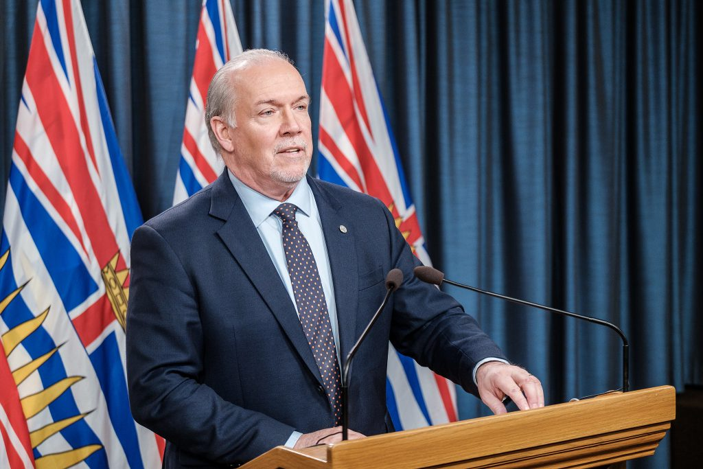 Premier John Horgan to update B.C. on COVID-19 response this afternoon